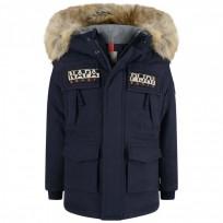 Парка Skidoo Open Long Blue Marine  - Интернет магазин брендовой одежды BOMBABRANDS.RU