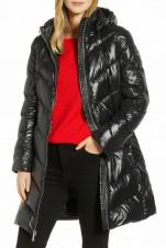 Пуховик Chevron Quilted Hooded Down Puffer  - Интернет магазин брендовой одежды BOMBABRANDS.RU