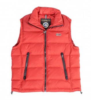Жилет пуховый красного цвета - Интернет магазин брендовой одежды BOMBABRANDS.RU
