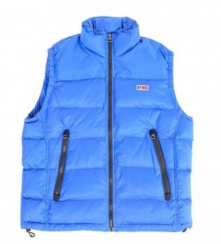 Жилет пуховый голубого цвета - Интернет магазин брендовой одежды BOMBABRANDS.RU