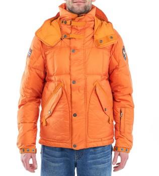 Пуховик n0y2ut оранжевый - Интернет магазин брендовой одежды BOMBABRANDS.RU