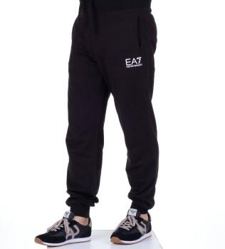 Брюки спортивные EA7 на резинке черные - Интернет магазин брендовой одежды BOMBABRANDS.RU