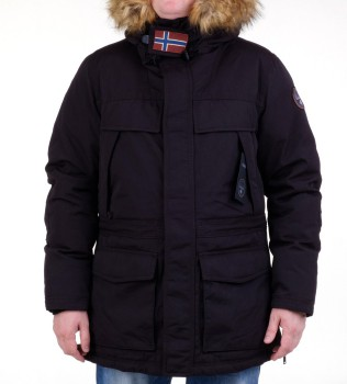 Парка Skidoo Open Black with fur - Интернет магазин брендовой одежды BOMBABRANDS.RU