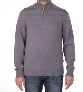 Джемпер с 1/3 молнии серый - Интернет магазин брендовой одежды BOMBABRANDS.RU