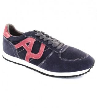 Кроссовки синие с красным - Интернет магазин брендовой одежды BOMBABRANDS.RU