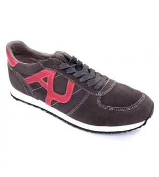 Кроссовки коричневые с красным - Интернет магазин брендовой одежды BOMBABRANDS.RU