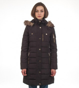 Пуховик Down Puffer Jacket Bubble Coat Black Gold Hood Fur Trim - Интернет магазин брендовой одежды BOMBABRANDS.RU
