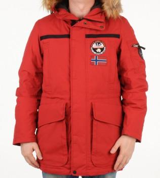 Парка зимняя красного цвета - Интернет магазин брендовой одежды BOMBABRANDS.RU