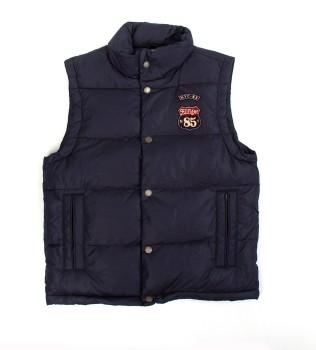 Жилет пуховый Chicago Vest синий - Интернет магазин брендовой одежды BOMBABRANDS.RU