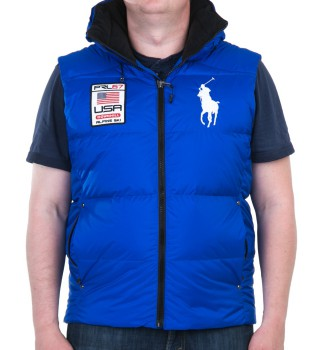Жилет пуховый Big Pony Usa navy - Интернет магазин брендовой одежды BOMBABRANDS.RU